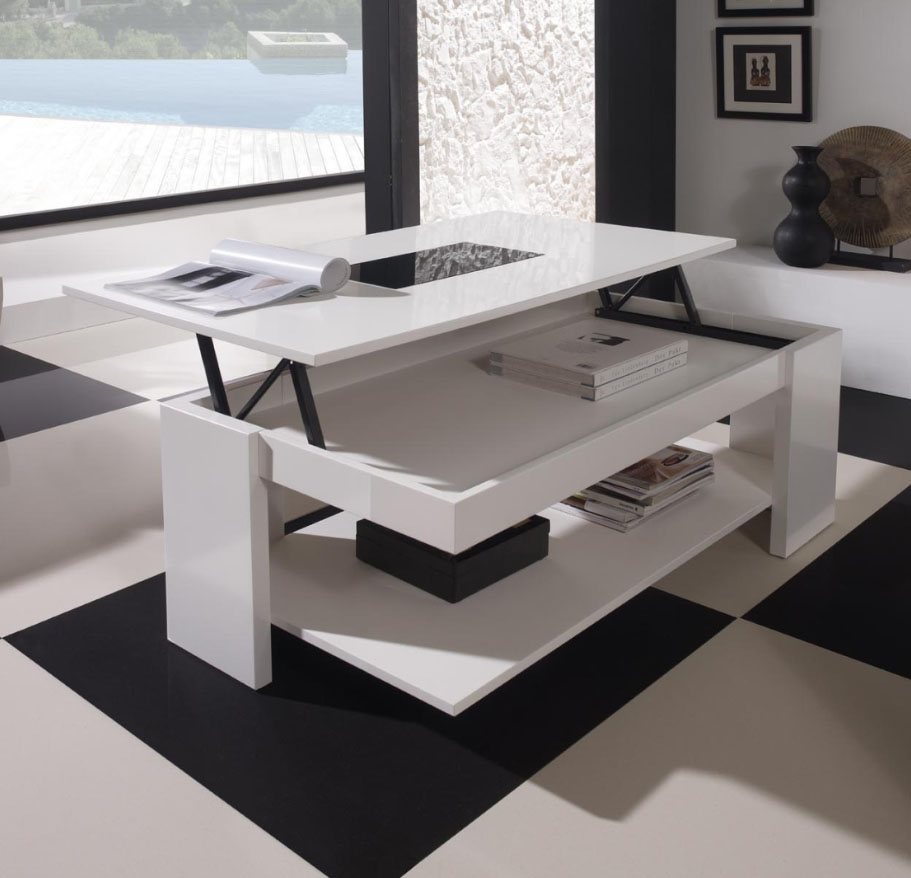 table salon relevable id es de d coration int rieure. Black Bedroom Furniture Sets. Home Design Ideas