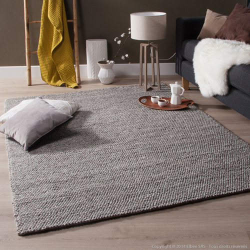 Tapis gris clair salon id es de d coration int rieure for Tapis salon clair