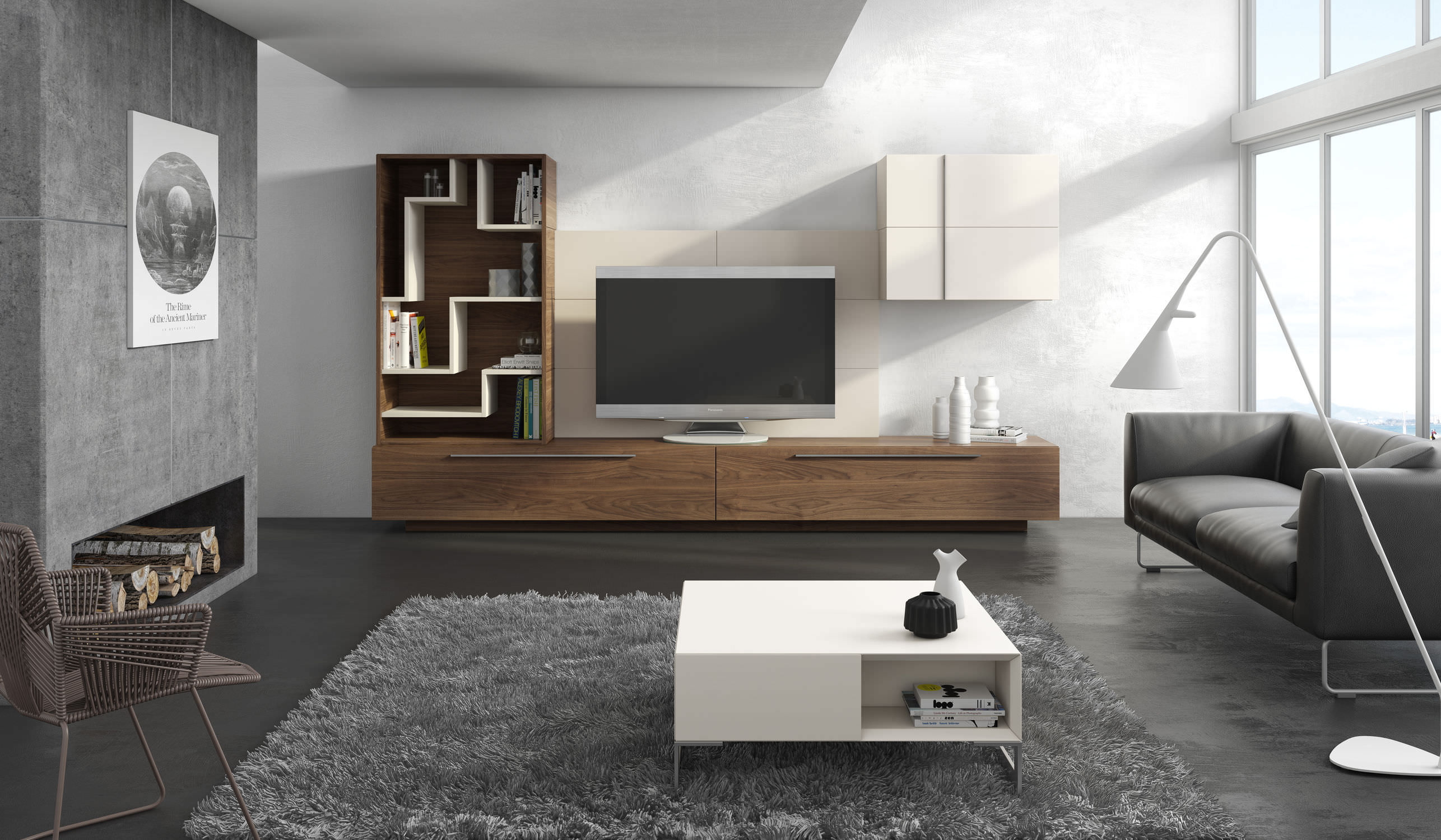 banc tv contemporain id es de d coration int rieure. Black Bedroom Furniture Sets. Home Design Ideas