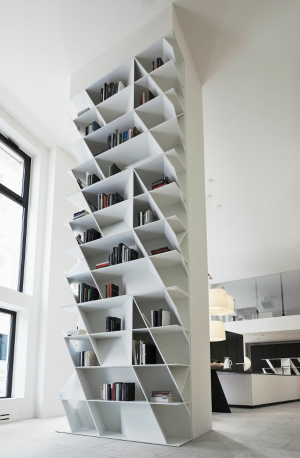 Bibliotheque Meuble Blanc Idees De Decoration Interieure French