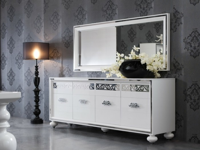buffet miroir moderne id es de d coration int rieure french decor. Black Bedroom Furniture Sets. Home Design Ideas