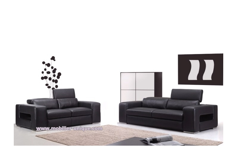 canape cuir 2 et 3 places id es de d coration int rieure. Black Bedroom Furniture Sets. Home Design Ideas