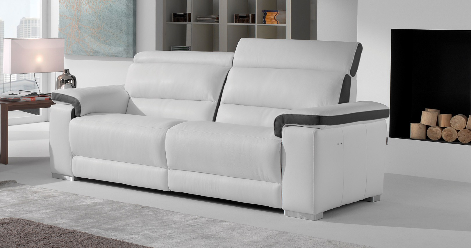 canap cuir promo canape cuir promo promo canape cuir canapac relaxation places coloris gris. Black Bedroom Furniture Sets. Home Design Ideas
