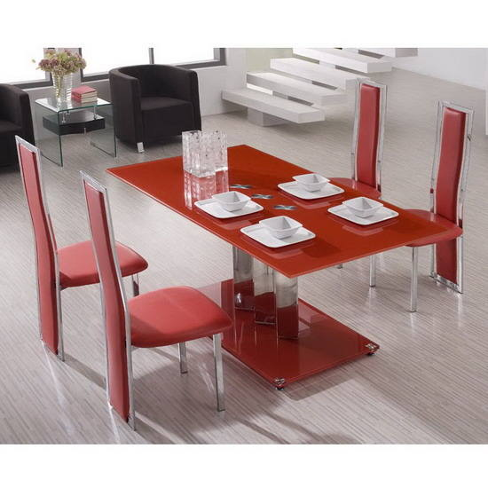 Chaise rouge salle a manger id es de d coration int rieure french decor for Salle a manger rouge