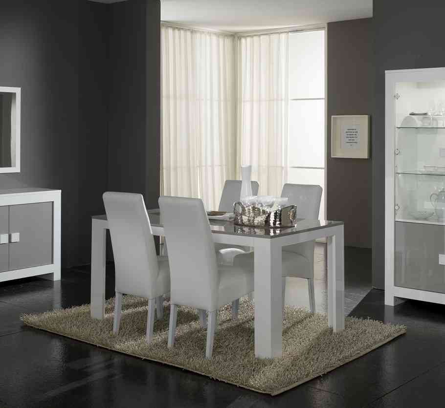 beautiful table salle a manger gris clair contemporary amazing house design. Black Bedroom Furniture Sets. Home Design Ideas