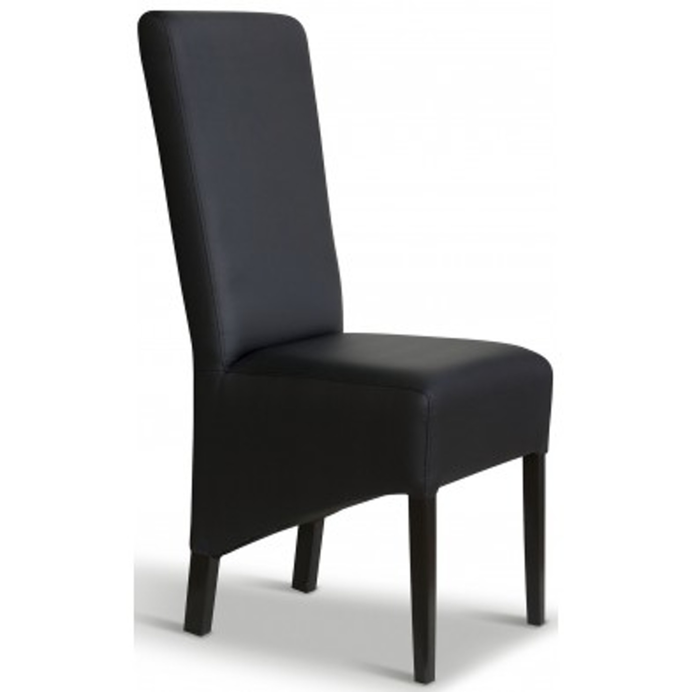 chaise en cuir noir elegant chaise noir pour table dinner. Black Bedroom Furniture Sets. Home Design Ideas