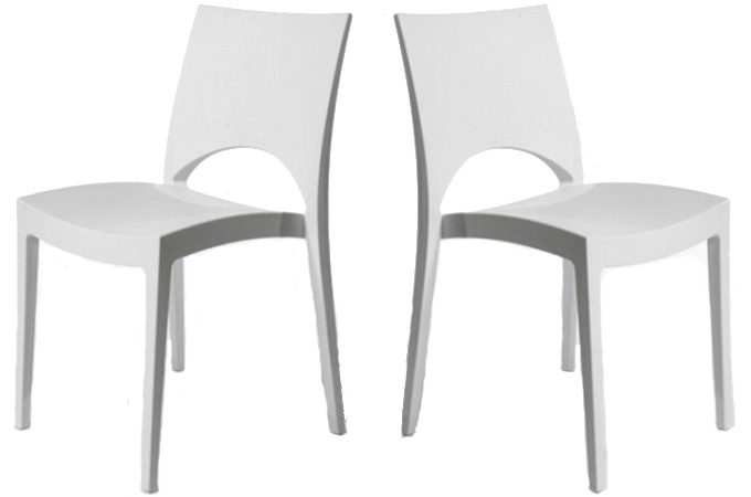 chaises blanches design pas cher