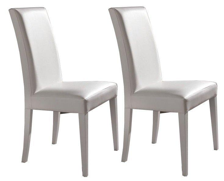 Chaises blanches simili cuir 28 images davaus net for Chaise de salle a manger hemisphere sud