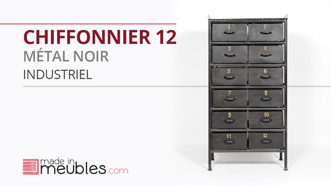 chiffonnier industriel 6 id es de d coration int rieure french decor. Black Bedroom Furniture Sets. Home Design Ideas