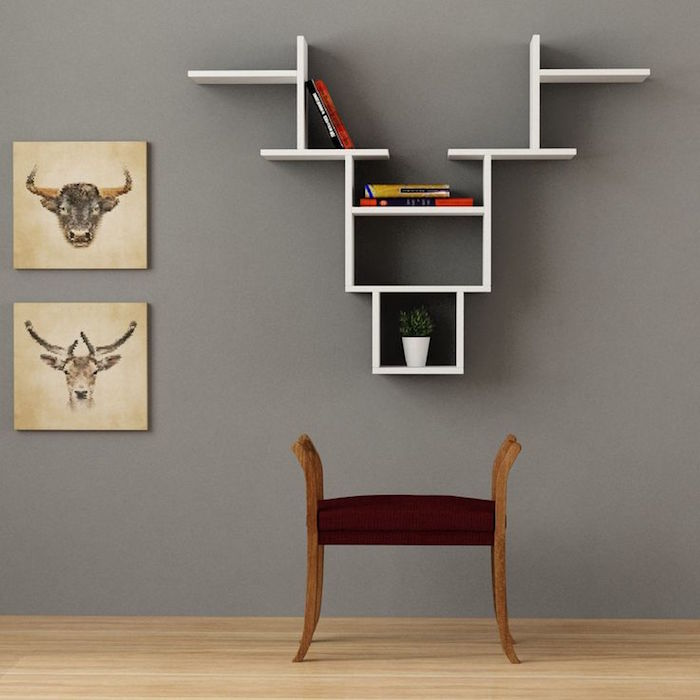 deco etagere murale salon maison design. Black Bedroom Furniture Sets. Home Design Ideas