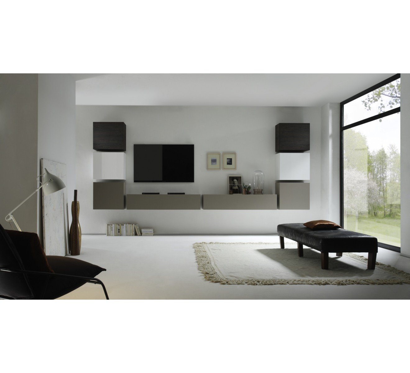 Ensemble meuble tv gris id es de d coration int rieure for Ensemble meuble tv gris