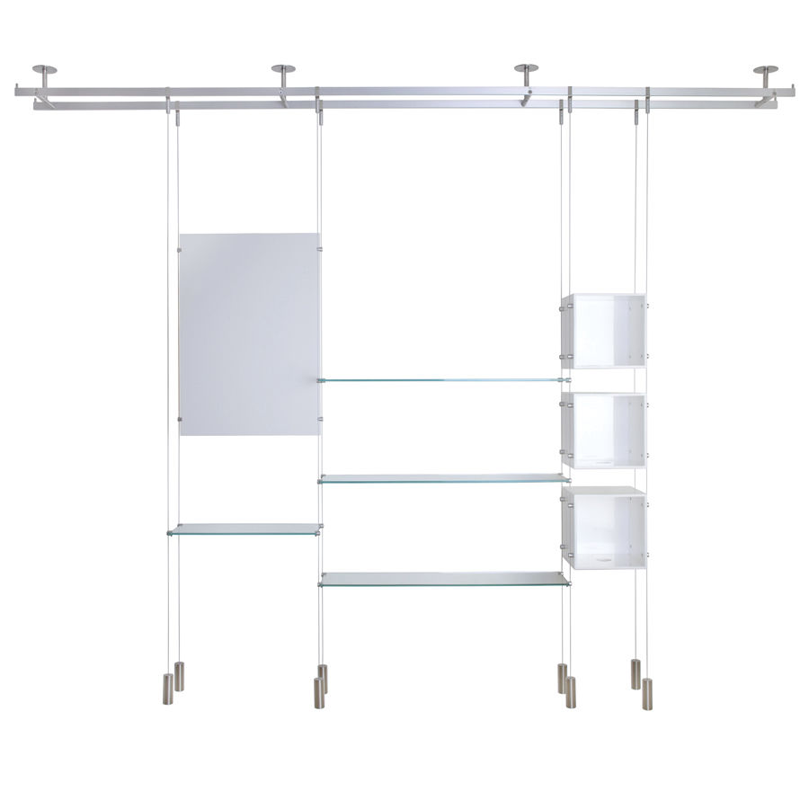 Etagere a suspendre 19 id es de d coration int rieure for Etagere suspendue cable plafond