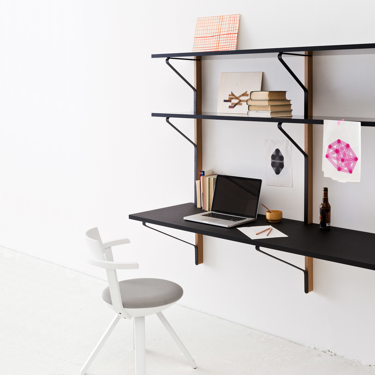 etagere bureau murale id es de d coration int rieure. Black Bedroom Furniture Sets. Home Design Ideas