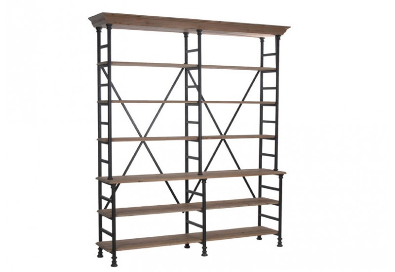 etagere metal et bois biblioth que id es de d coration. Black Bedroom Furniture Sets. Home Design Ideas