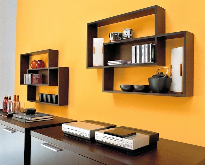 etagere murale pour salon 14 id es de d coration. Black Bedroom Furniture Sets. Home Design Ideas
