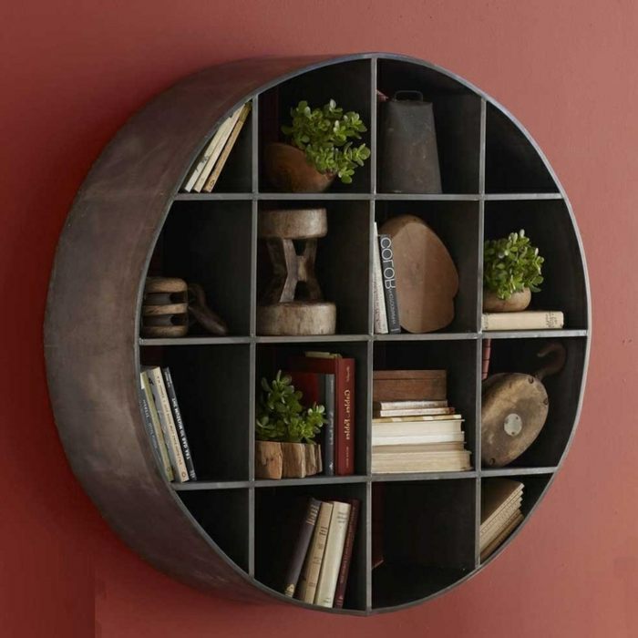 etagere murale ronde design id es de d coration. Black Bedroom Furniture Sets. Home Design Ideas