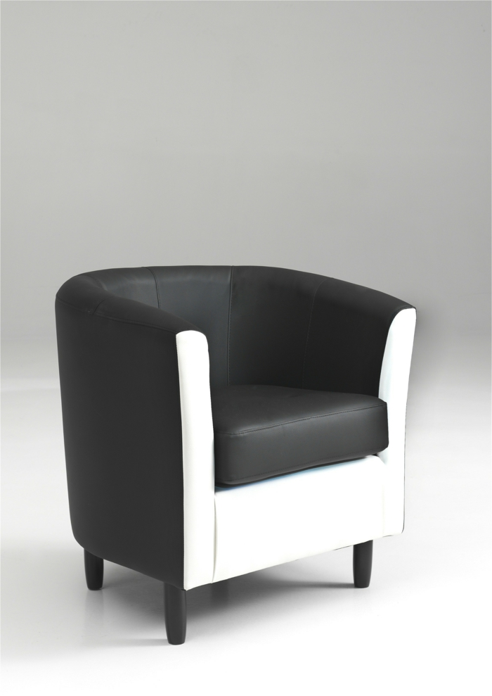 fauteuil cuir noir et blanc id es de d coration int rieure french decor. Black Bedroom Furniture Sets. Home Design Ideas