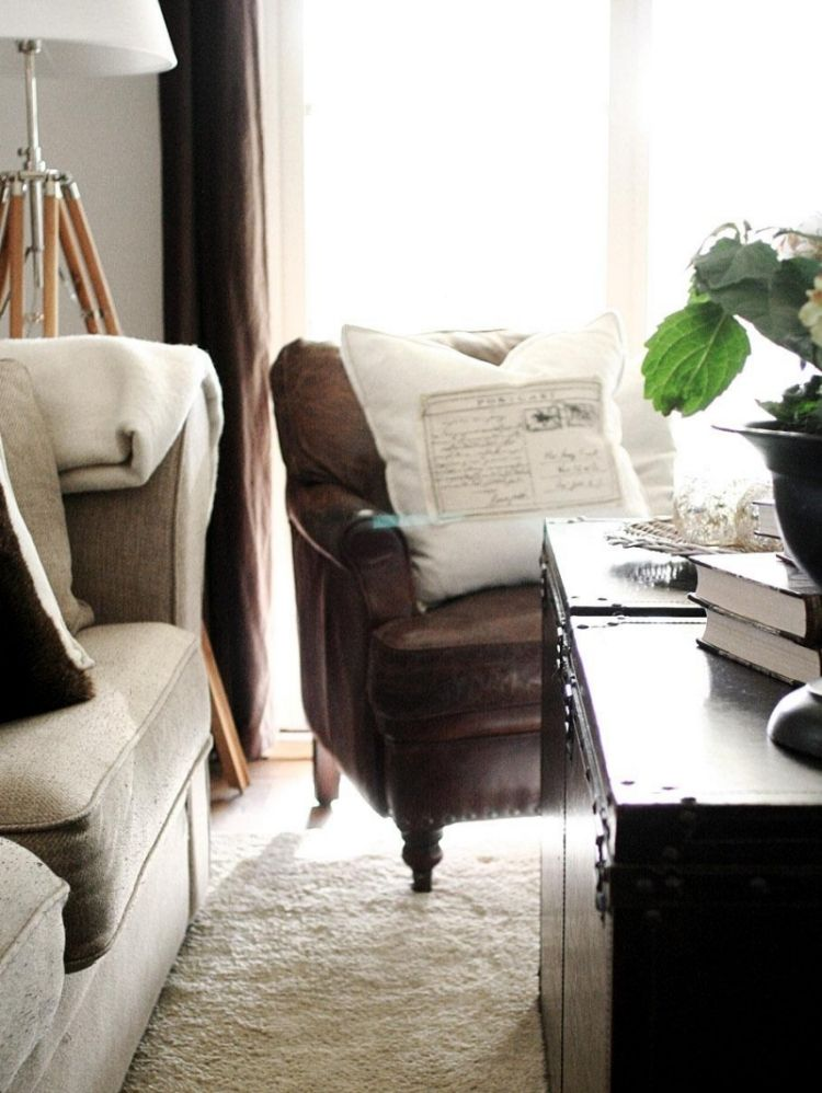 fauteuil cuir noir et blanc 14 id es de d coration int rieure french decor. Black Bedroom Furniture Sets. Home Design Ideas