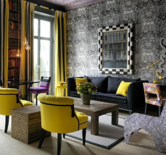 fauteuil salon jaune 16 id es de d coration int rieure french decor. Black Bedroom Furniture Sets. Home Design Ideas