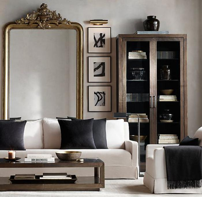 grand miroir salon design id es de d coration int rieure. Black Bedroom Furniture Sets. Home Design Ideas