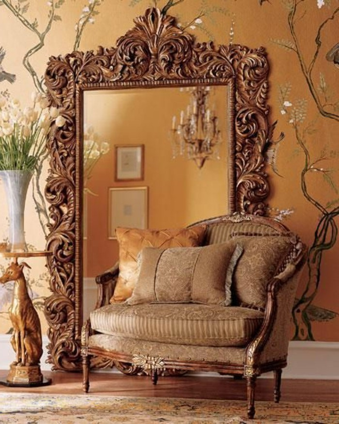 grand miroir style baroque id es de d coration int rieure french decor. Black Bedroom Furniture Sets. Home Design Ideas