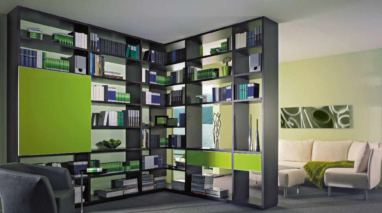 meuble d angle bibliotheque 15 id es de d coration. Black Bedroom Furniture Sets. Home Design Ideas