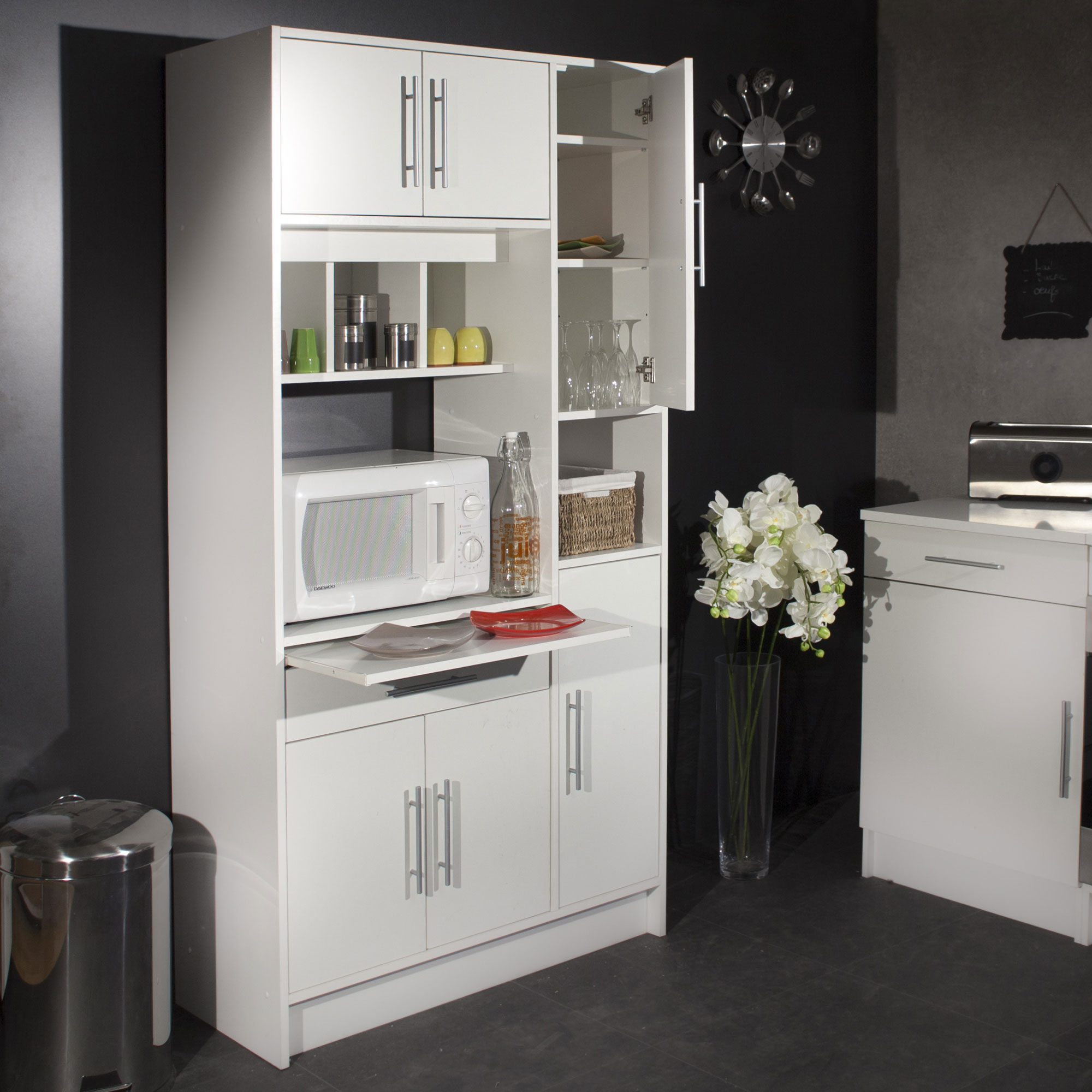 meuble de cuisine pour four et micro onde id es de. Black Bedroom Furniture Sets. Home Design Ideas