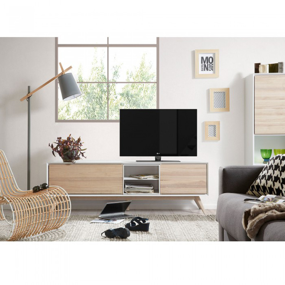 Meuble living tv 15 id es de d coration int rieure for Meuble mural living