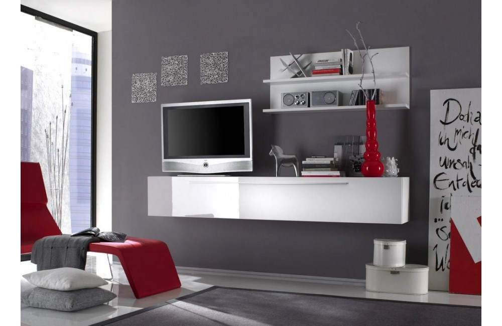 meuble sous tele murale id es de d coration int rieure. Black Bedroom Furniture Sets. Home Design Ideas