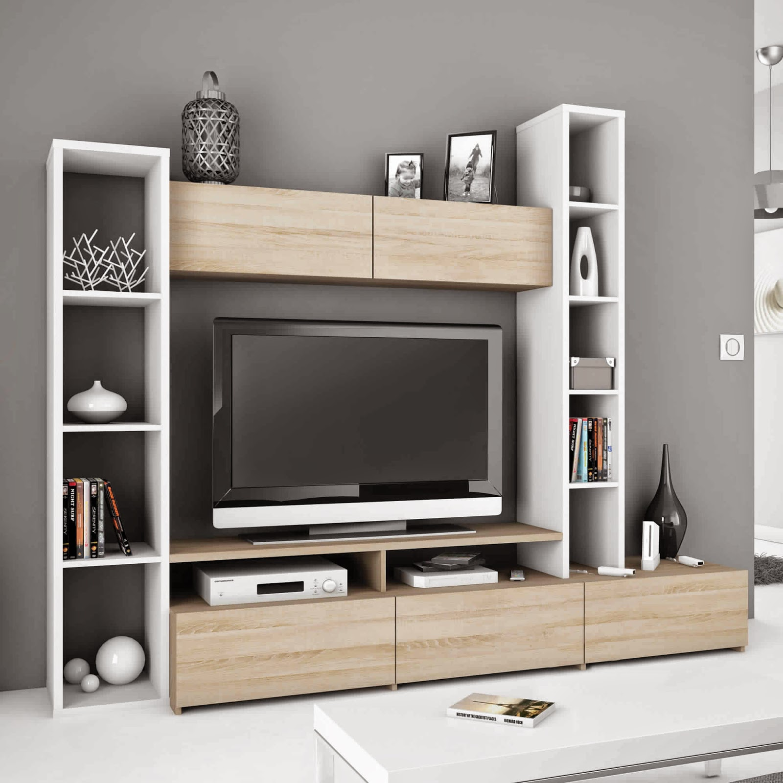 meuble tele avec rangement id es de d coration int rieure french decor. Black Bedroom Furniture Sets. Home Design Ideas
