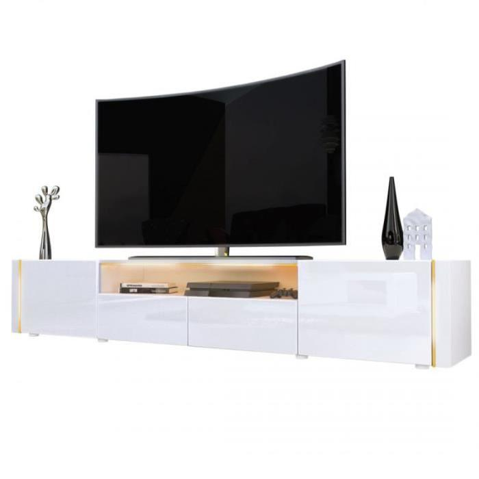 meuble tele bas blanc 7 id es de d coration int rieure. Black Bedroom Furniture Sets. Home Design Ideas
