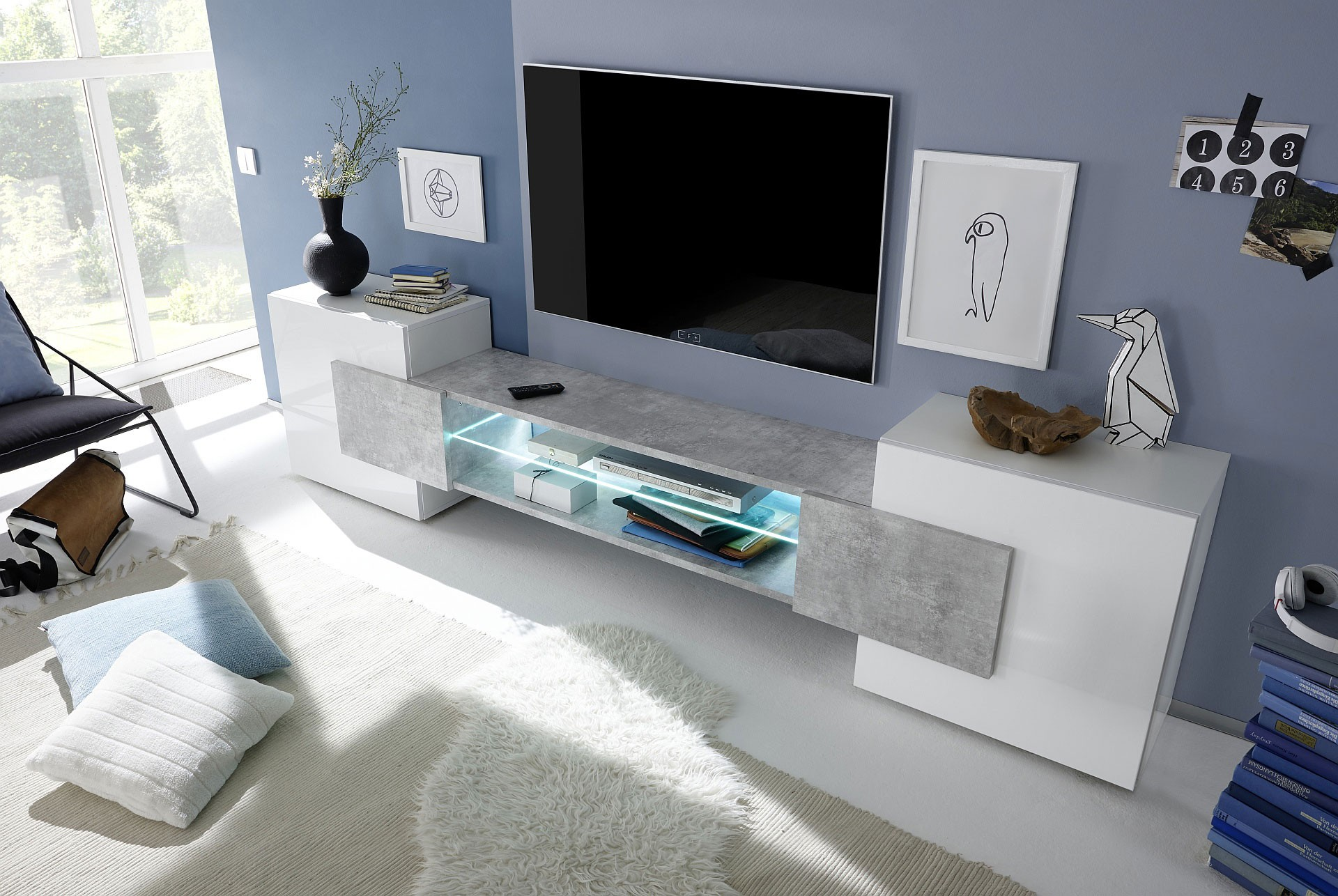 Meuble tele blanc design 8 id es de d coration Des idees de decoration interieure