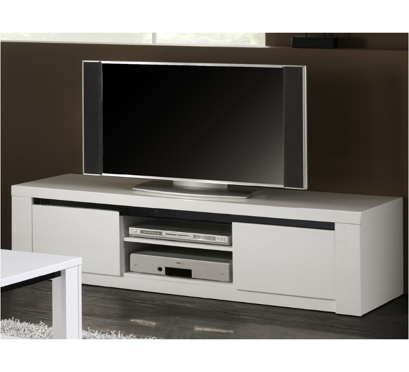 meuble tele blanc et noir id es de d coration int rieure. Black Bedroom Furniture Sets. Home Design Ideas