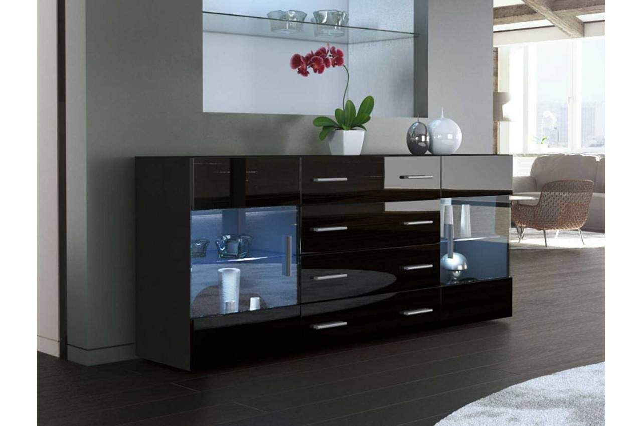meuble tele en verre noir id es de d coration int rieure french decor. Black Bedroom Furniture Sets. Home Design Ideas