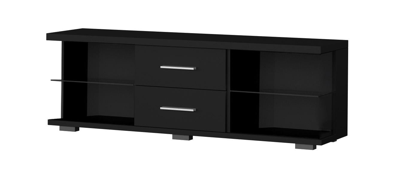 meuble tele en verre noir 20 id es de d coration. Black Bedroom Furniture Sets. Home Design Ideas