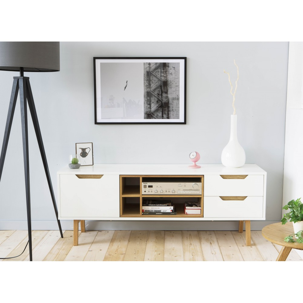 meuble tv 150 cm blanc 1 id es de d coration int rieure. Black Bedroom Furniture Sets. Home Design Ideas