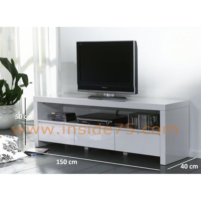 meuble tv 150 cm blanc 8 id es de d coration int rieure french decor. Black Bedroom Furniture Sets. Home Design Ideas