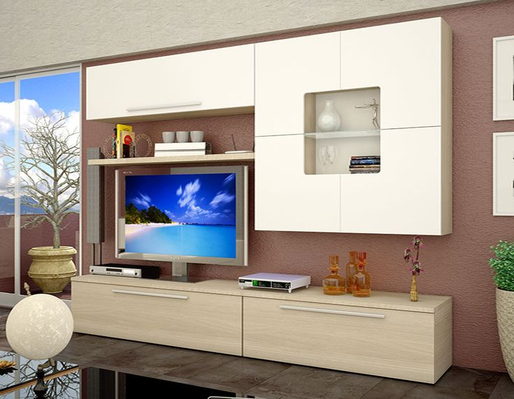 meuble tv blanc et chene 8 id es de d coration. Black Bedroom Furniture Sets. Home Design Ideas