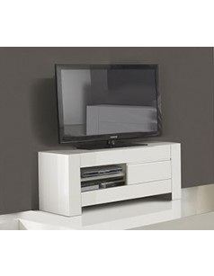 meuble tv blanc laqu 100 cm 5 id es de d coration. Black Bedroom Furniture Sets. Home Design Ideas