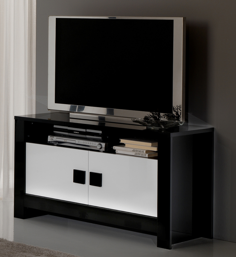 meuble tv blanc laqu 100 cm 8 id es de d coration int rieure french decor. Black Bedroom Furniture Sets. Home Design Ideas