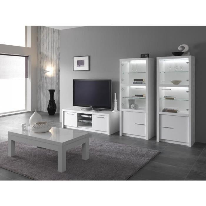 meuble tv blanc laqu 130 cm 7 id es de d coration int rieure french decor. Black Bedroom Furniture Sets. Home Design Ideas