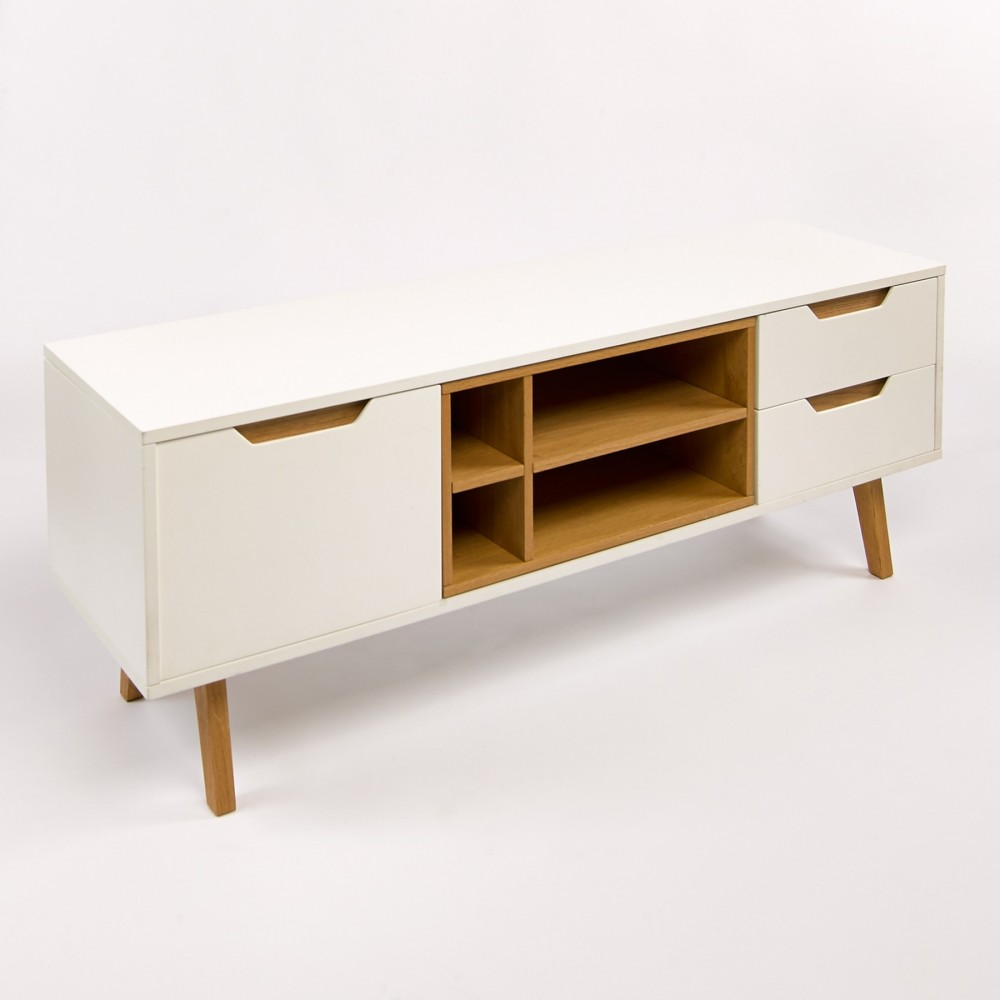 meuble tv blanc pied bois 12 id es de d coration int rieure french decor. Black Bedroom Furniture Sets. Home Design Ideas