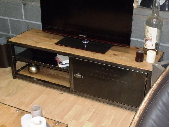 meuble tv bois metal pas cher id es de d coration int rieure french decor. Black Bedroom Furniture Sets. Home Design Ideas