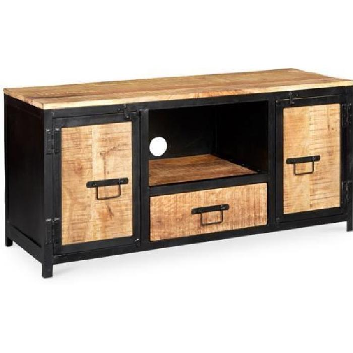 meuble tv bois metal top meuble tv bas en bois avec. Black Bedroom Furniture Sets. Home Design Ideas