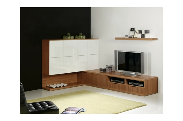 meuble tv d angle design blanc 2 id es de d coration int rieure french decor. Black Bedroom Furniture Sets. Home Design Ideas