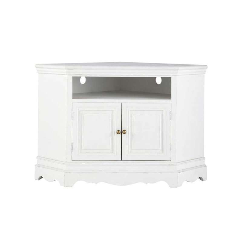 meuble tv d angle laqu blanc id es de d coration int rieure french decor. Black Bedroom Furniture Sets. Home Design Ideas