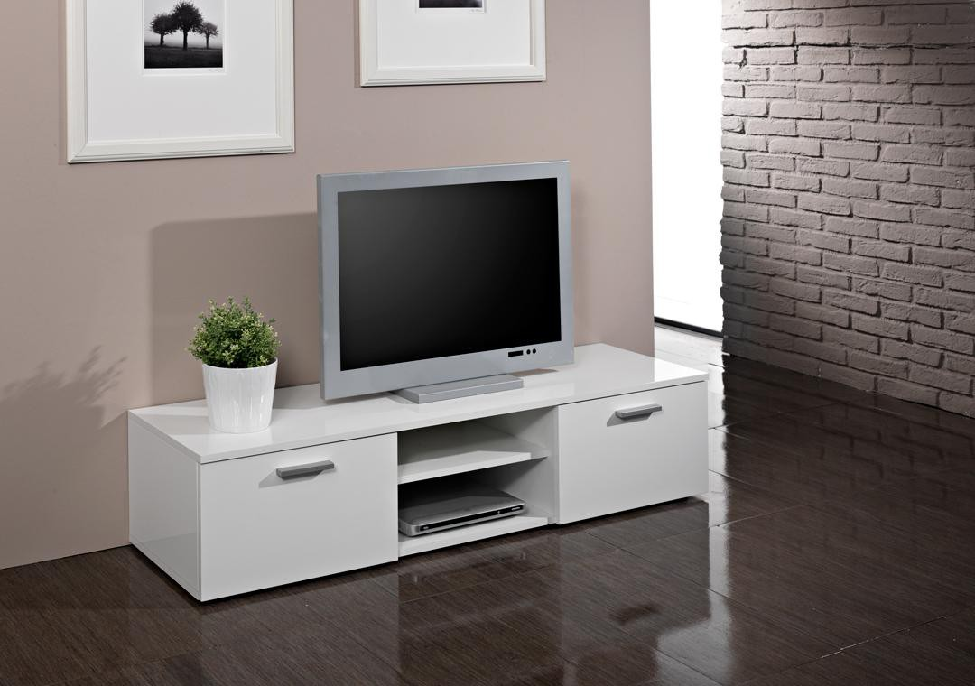meuble tv design blanc laque pas cher id es de. Black Bedroom Furniture Sets. Home Design Ideas
