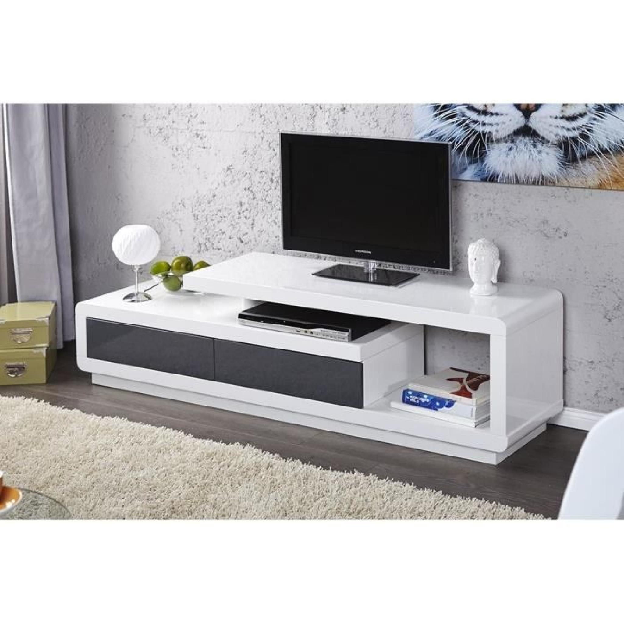 meuble tv design blanc laque pas cher id es de d coration int rieure french decor On meuble tv design pas cher