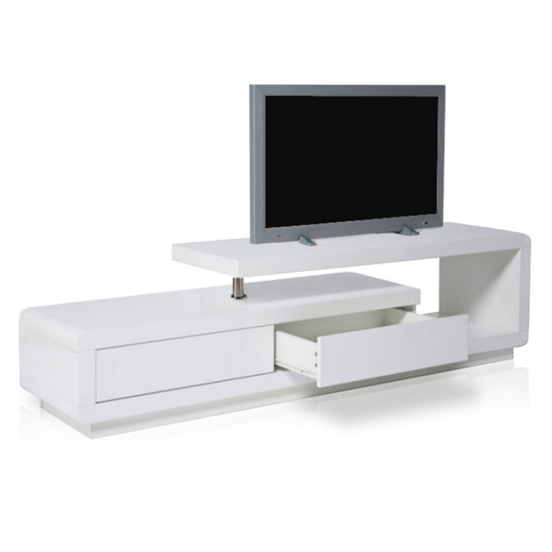 meuble tv design blanc laque pas cher 14 id es de. Black Bedroom Furniture Sets. Home Design Ideas