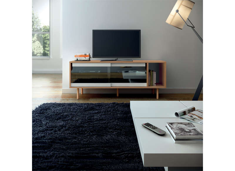 meuble tv en verre et bois 4 id es de d coration int rieure french decor. Black Bedroom Furniture Sets. Home Design Ideas